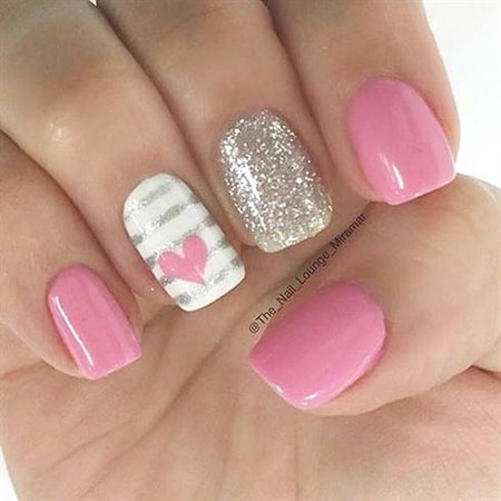 Valentine Nail Art Design, Line Tape Colored Stickers