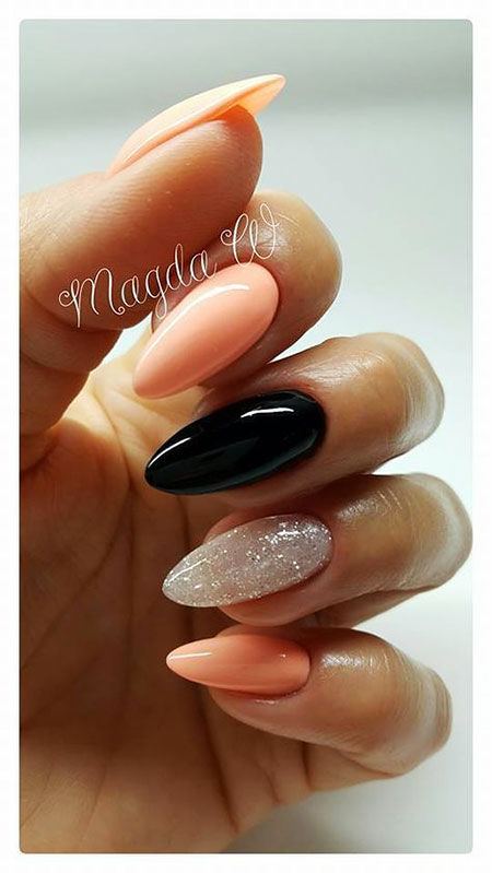 Almond Nails Designs 2018, Manicure Long Short Almond