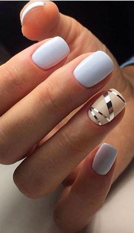 Manicure Blue Cute Black