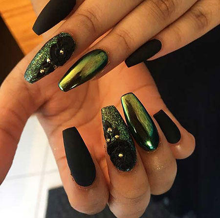 Green Matte Black Metallic