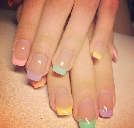 French Manicure Love Modern