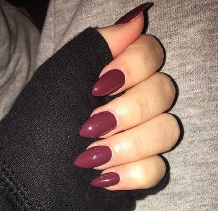 Almond Acrylic Manicure Winter