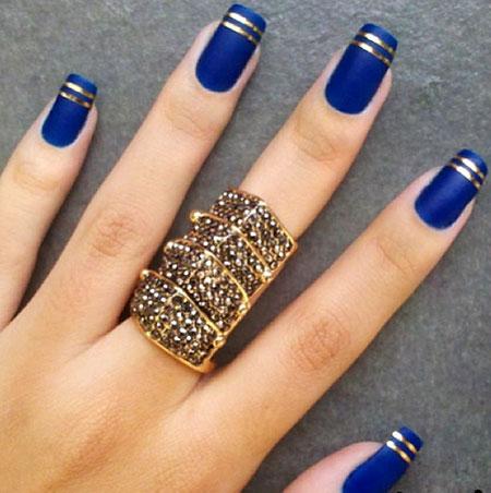 Gold Matte Blue Nice
