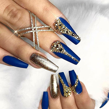 Gold Blue Royal Ballerina