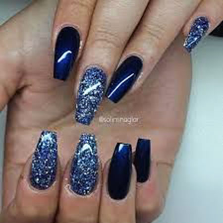 Blue Acrylic Navy Gold