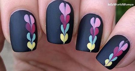 Matte Black Manicure Toes