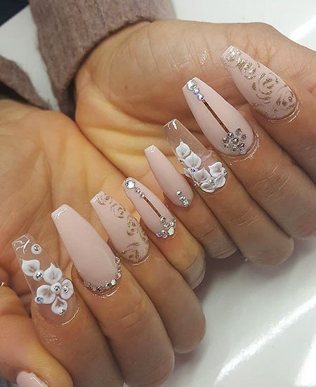 Pictures Wedding Acrylic Ongles