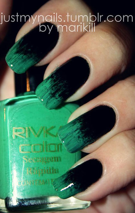Polish Green Black Opi