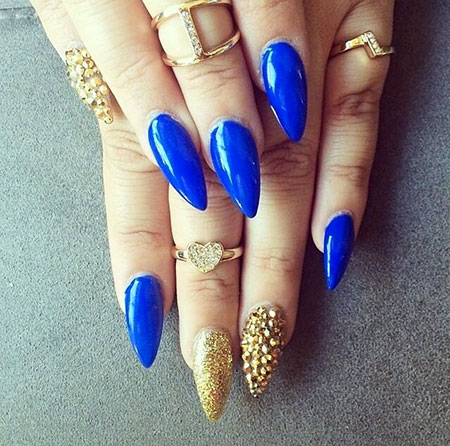 Blue Gold Stiletto Royal