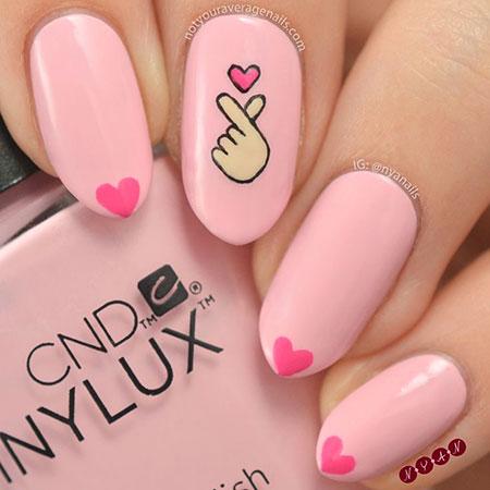 Easy Heart Nail Art, Manicure Shellac