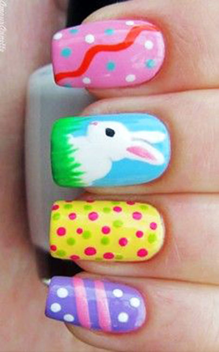 Cutest Nail Design, Easter Dots Pictures Holiday