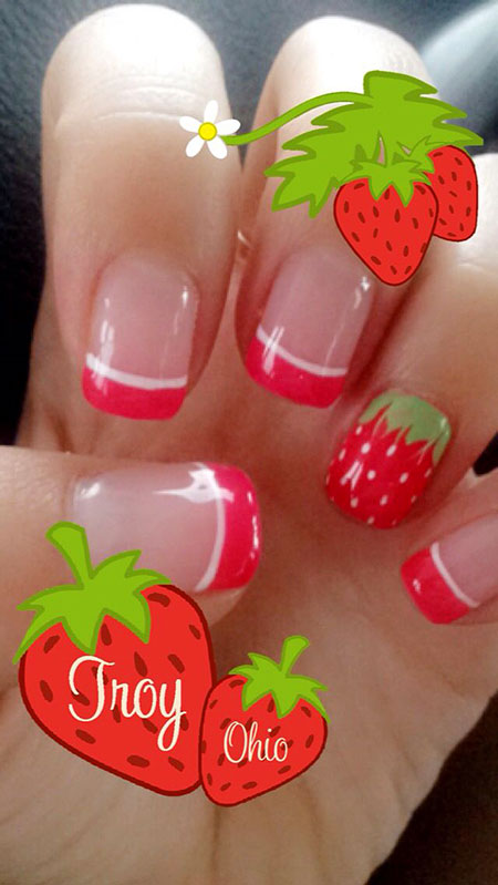 Cute Strawberry Nails, Cute Manicure Polish