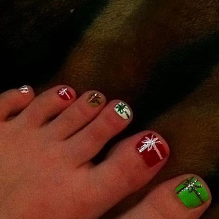 Toe Toes Christmas Toenail