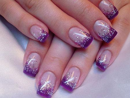 Gel Purple Glitter Ideas