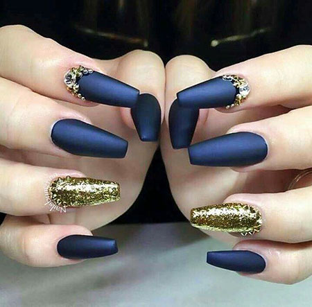 Matte Gold Blue Gel