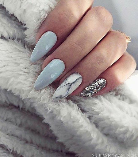 Grey Acrylic Manicure Gel