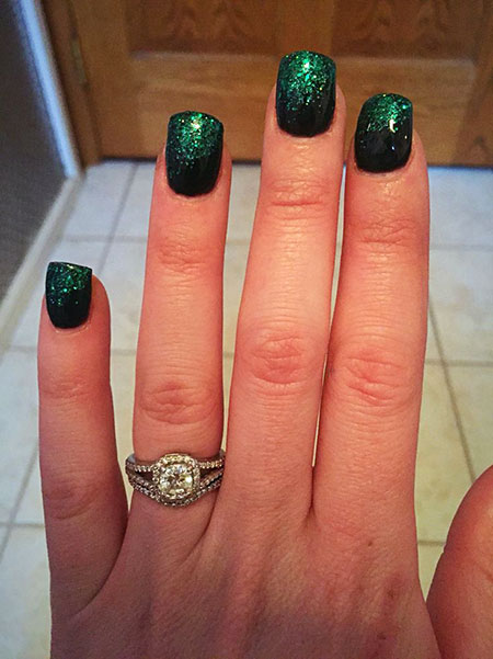 Glitter Day Green Acrylic
