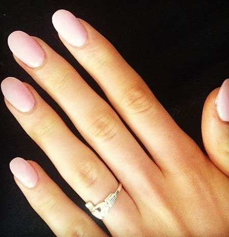 Oval Short Manicure Rings
