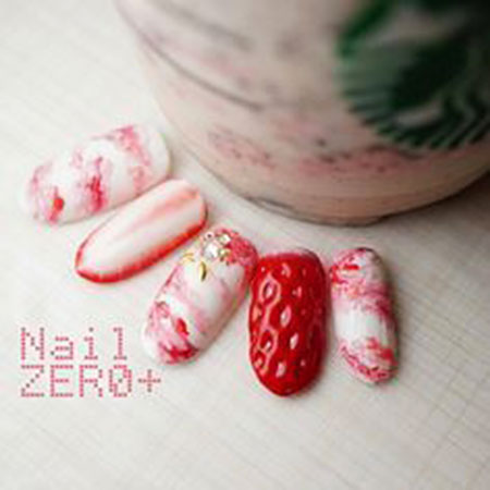 Cute Naildesign Details Pink