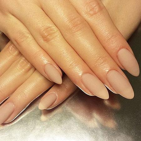 Almond Nude Acrylic Manicure