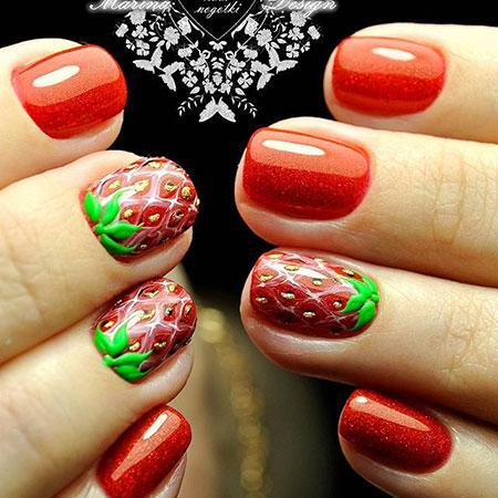 Christmas Stroke Polish Manicure