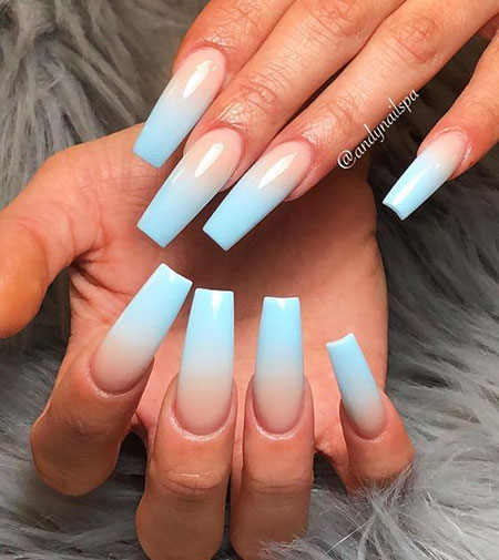 Coffin Ombre Trendy Claw