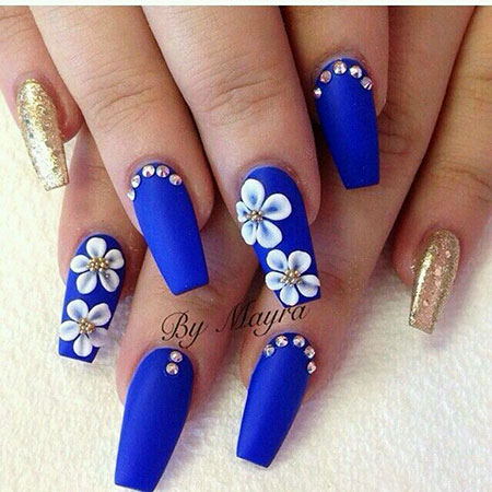 Acrylic Cool Gold Blue