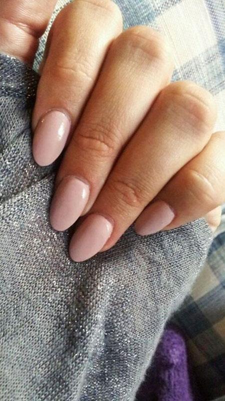 Acrylic Almond Manicure Nude