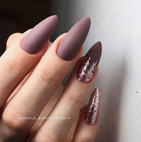 Long Almond Shape Nails, Manicure Black Paznokcie Nagellack