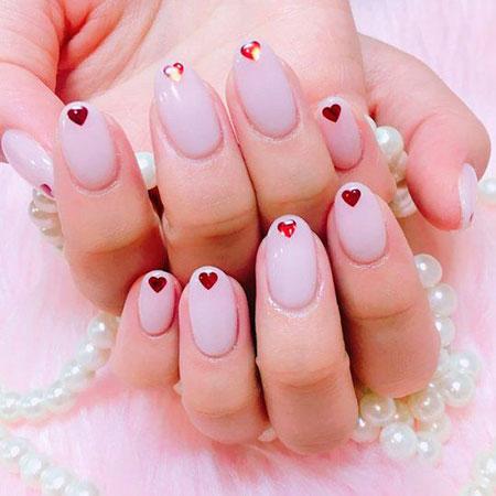 Minimalist Korean Nails, Manicure Minimalist Korean Coral
