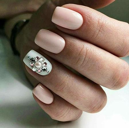 Fashionable Nail Style, Manicure Blue White