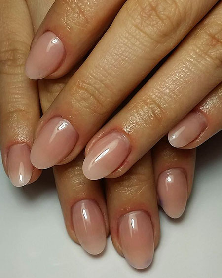 Short Natural Oval Nail Art, Short Manicure Nude Best
