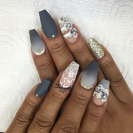 Stylish and Exotic Nail Design, Ongles Manicure Coffin Ideas