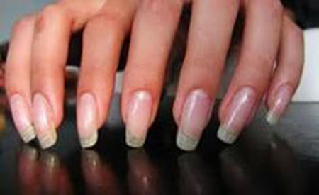 Long Squoval Nails, Home Stronger Strong Manicure