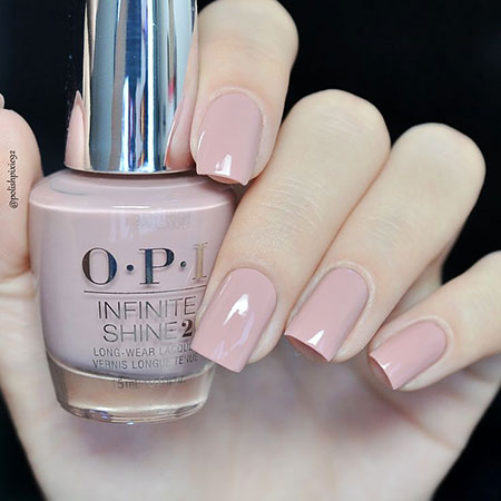 Nude Pink Nails, Polish Shine Infinite Opi