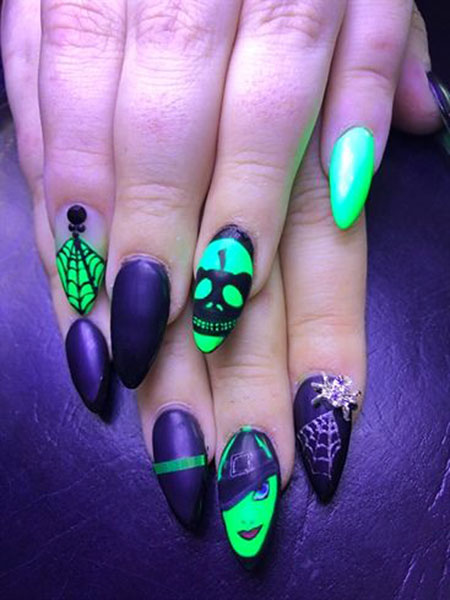 Halloween Nail Colors, Manicure Best Matte Green