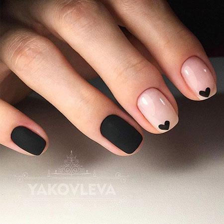 Black Short Nail Art, Manicure Black Gorgeous Ideas