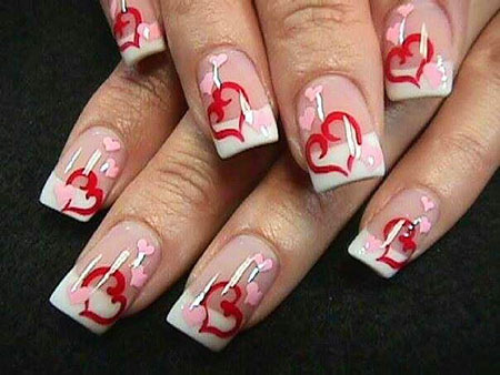 Natural Colored Heart Nails, Valentines Best Photos Country