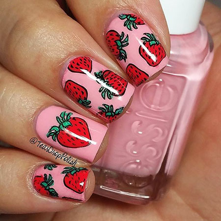Pinky Fruit Nail Style, Photo Fruit Flower Floweral