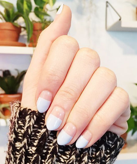 French Manicure Nails, 2017 Trend French Manicure