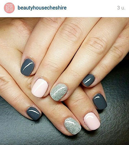 Easy Short Manicure Grey