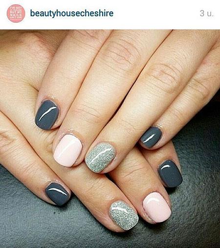 Easy Short Manicure Grey