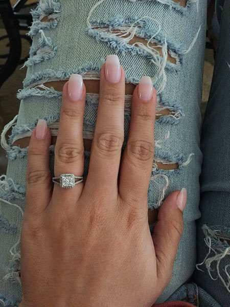 Engagement Coffin Natural Rings