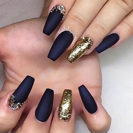 Gold Black Coffin Matte