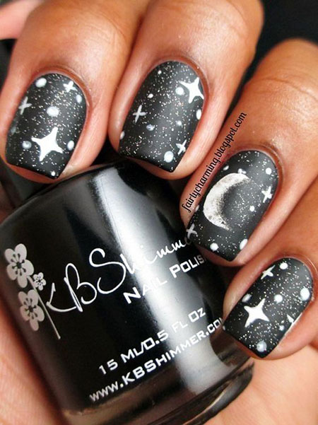 Moon Snowflake Polish Winter