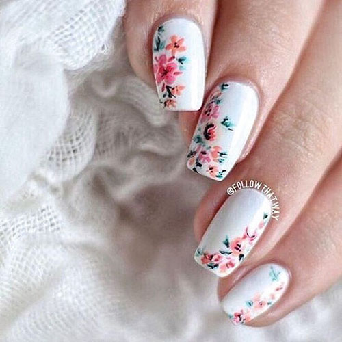 Lily Flower Nail Designs