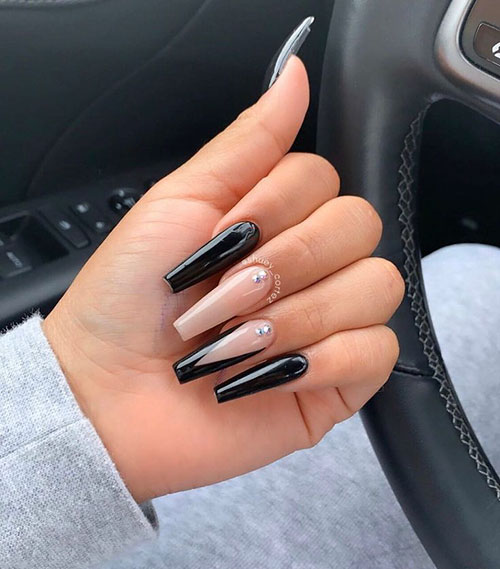 Long Coffin Nail Ideas