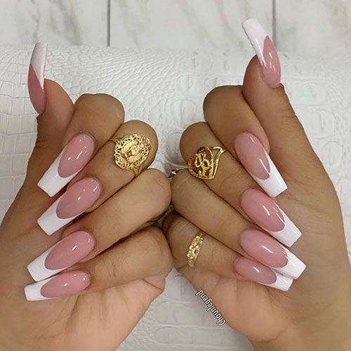 French On Coffin Nails