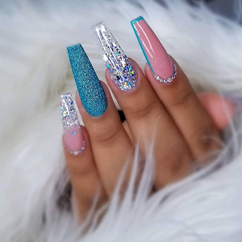 Cute Acrylic Coffin Nails