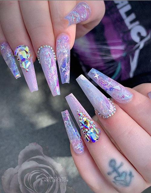 Cute Nails Acrylic Coffin